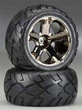 Traxxas 3776A All Star BK Chrome Front Wheels w/ Anaconda Tires Rustler XL5