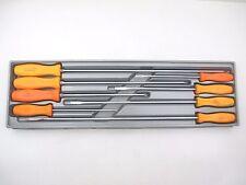 SNAP ON 8 Pc Cabinet Screwdriver Set Orange Handle, Phillips & Flat Head SCD80