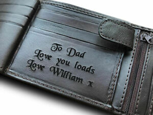 Mens-Personalised-Engraved-Real-Brown-Soft-Leather-Wallet-Birthday-Gift-Dad-Son
