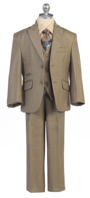 New Sage Suit Boys Toddler Teen 5-PC Wedding Formal Party Tuxedo w/vest sz 2-20