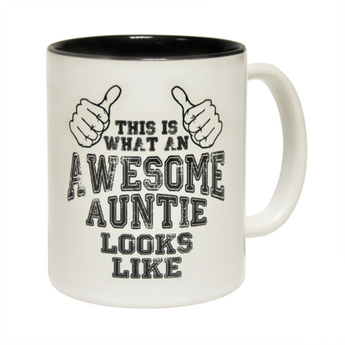 Funny Mugs This Is What An Awesome Auntie Looks Like Family NOVELTY MUG