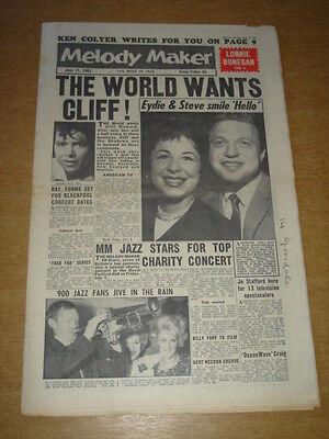 Melody Maker 1961 June 17 Cliff Richard Lonnie Donegan Eydie Gorme Billy Fury + Op Reis