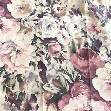 Grey Watercolor Floral Print Macbeth Cindersmoke Covington Fabric