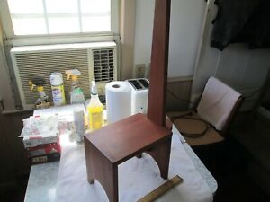 Dovetailed Solid Cherry Wood Step Stool w/Handle - Beautiful & Fine