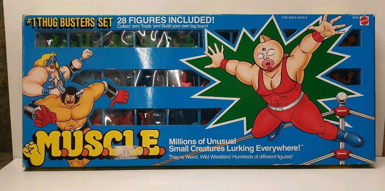 M.U.S.C.L.E thug autobuster set 1983 MIB