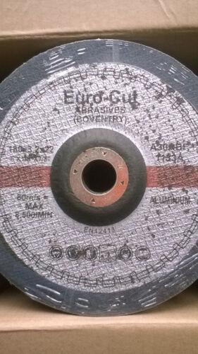 7 INCH X 3MM DEPRESSED CENTRE ALUMINIUM EURO CUT PACK 25 CUTTING DISCS 180MM