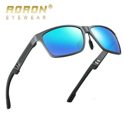 Mens Sport Polarized Retro Pilot Mirror Sunglasses Driving Outdoor Eyewear UK
