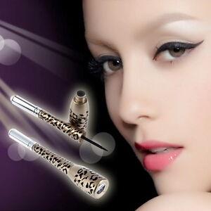 2-in-1-Leopard-Bottle-Black-Waterproof-Liquid-Eyeliner-Pen-Beauty-Makeup