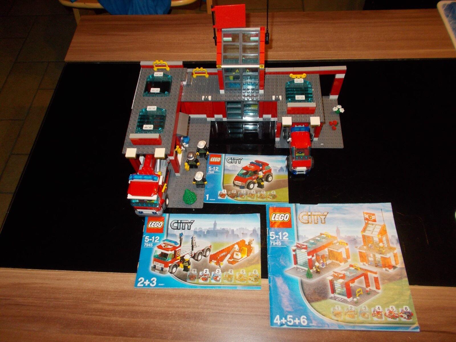 LEGO ® CITY pompiers - 7945-Pompiers Station avec de recette (BA)