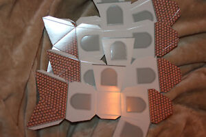 Details Zu 2x Geschenkverpackung Pappbox Haus Große Fenster Teelicht Basteln Weihnachten