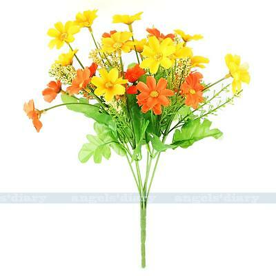 Small 20 Heads Artificial Silk Daisy Flower Bunch Home Garden Party Floral Decor