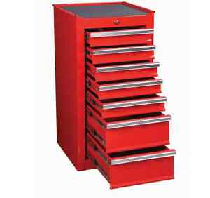 Image Is Loading Tool Box Chest Glossy Red 7 Drawer End