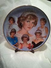"Princess Diana Memorial Plate ~ By Danbury Mint ~ ""DIANA  ""PRINCESS OF WALES"""