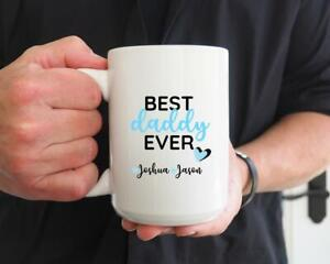 Best-Daddy-Ever-Coffee-Mug-Personalized-Mug-Father-039-s-Day-Gift-Gift-For-Dad-Mug