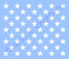 "1.25"" STAR STENCIL ""50 STARS"" TEMPLATE AMERICAN PATRIOTIC FLAG NEW 11.50"" x 16"""