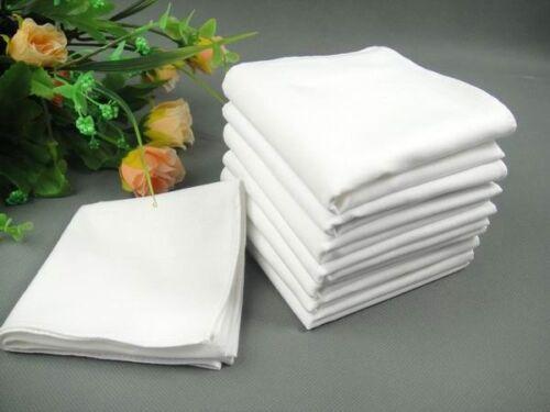 40cm gentleman pure white high quality 100/% cotton handkerchief Large size 40