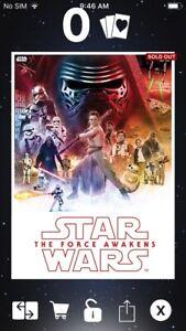 Topps Star Wars Card Trader Celebrate Saga MOVIE POSTERS RED FORCE AWAKENS