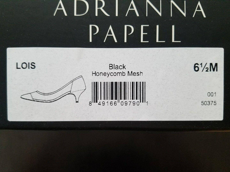 Adrianna Papell LOIS Black Lace Kitten Kitten Kitten Heel Evening Pumps shoes US SZ 6.5 M 24b92d