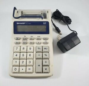 Sharp EL-1701C 12 Digit 1.4 LPS Portable Printing Calculator Business and Tax