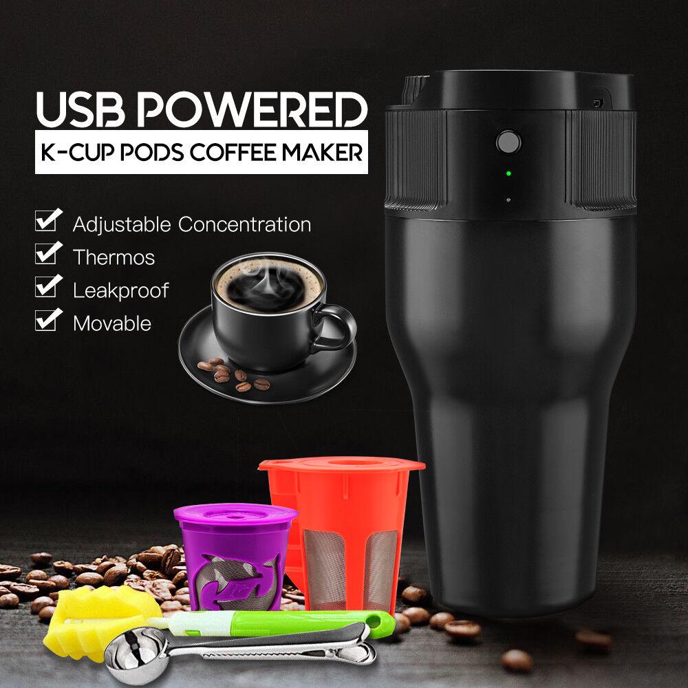 Je cafilas USB alimenté électrique simple servir K-Cup Pod Cafetière 18 oz (environ 510.28 g)