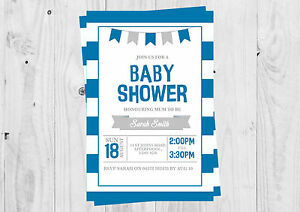 Personalised-baby-boy-Blue-Baby-shower-Banner-invitations-with-envelopes
