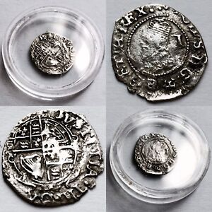 Genuine Original Antique (Circa 1630) Medieval British Charles 1st Silver Penny
