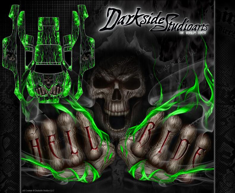 Traxxas Slash 4x4 gráficos Wrap calcomanías  Hell Ride  Decal Set