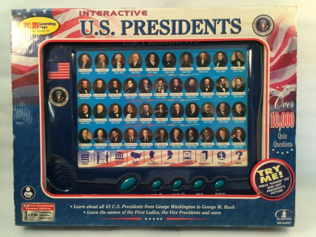 K&B Learning Toys Interactive U.S. Presidents 2001 #80851 Washington to George W