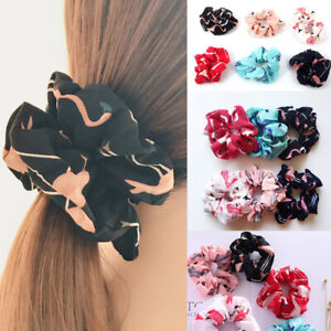 Flamingo-Design-Hair-Tie-Scrunchies-Womens-Sweet-Ponytail-Hair-Holder-Rope-Gifts