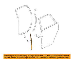 GMC GM OEM 10-16 Terrain Rear Door-Rear Weatherstrip Seal Left 20998401