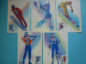 LOT-9331-CARTE-MAXIMUM-JO-HIVERS-RUSSIE-RUSSIA-ANNEE-1988