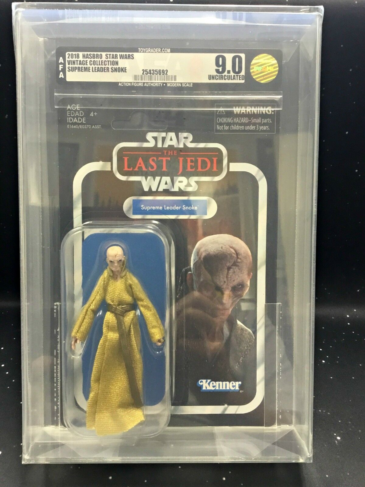 2018 Star Wars Wars Wars Vintage Collection VC121 Supreme Leader Snoke AFA U9.0 ffa793