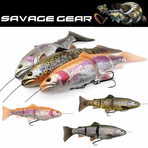 SAVAGE GEAR SCENTED SOFT SWIMBAIT LURE 4D LINE THRU TROUT 150mm//40g