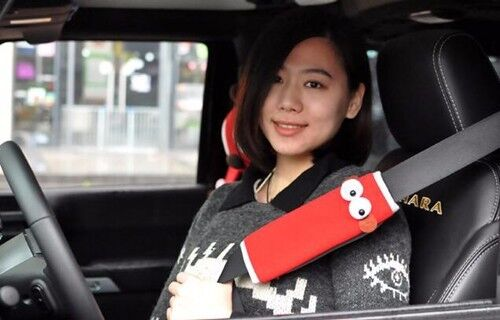 2Pcs PLUMO Fashion Lovely Red Fire Monkey Car Auto Seat Belt Cover Shoulder Pads