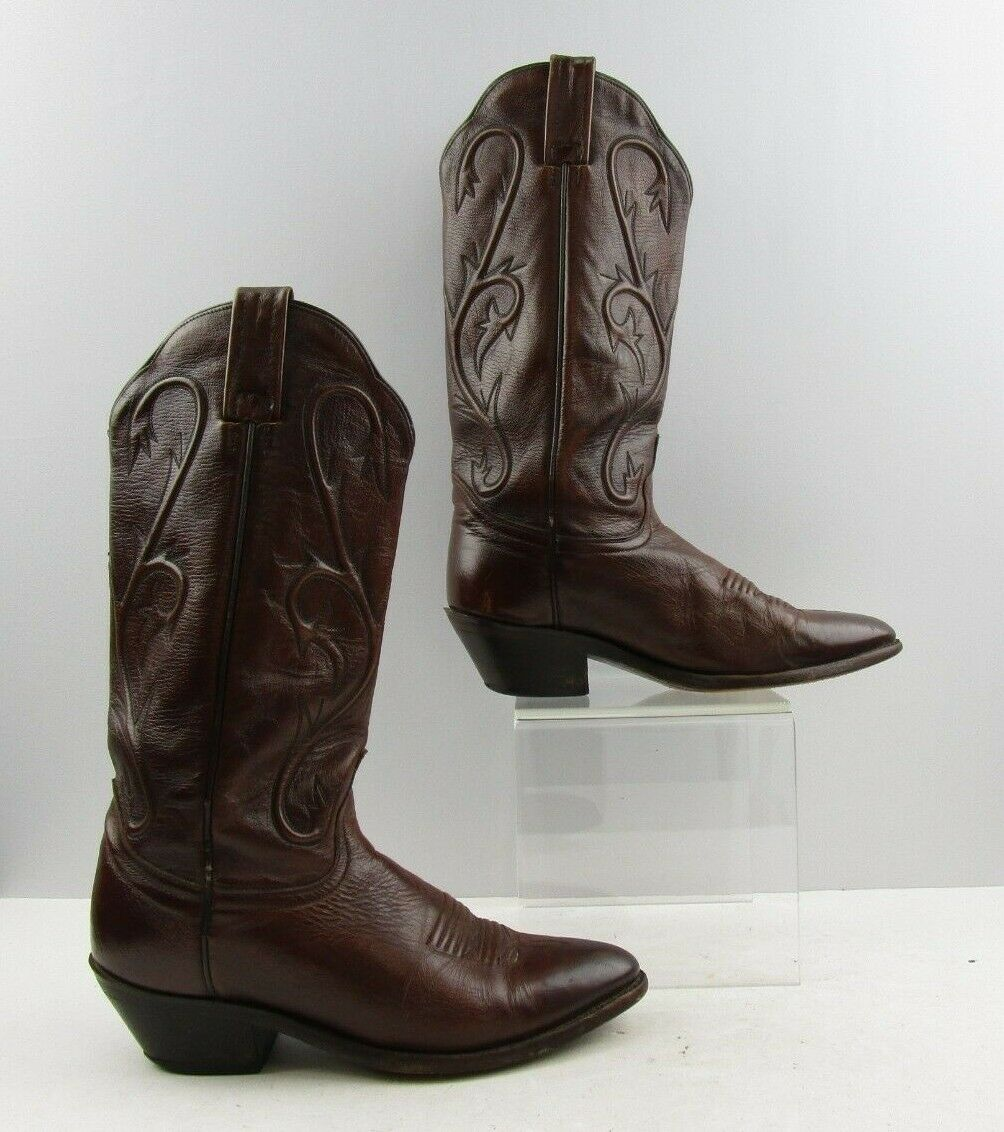 Men's Dan Post Brown Leather Cowboy Western Boots Size  8.5 M