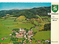AK aus St.Oswald bei Möderbrugg, Alpine-Luftbild, Steiermark   (A5)