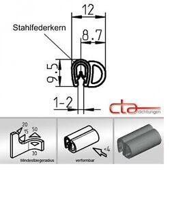 1 m dichtungsprofil dichtprofil kantenschutz epdm pvc schwarz kb 1 2mm 1c11 20 ebay. Black Bedroom Furniture Sets. Home Design Ideas