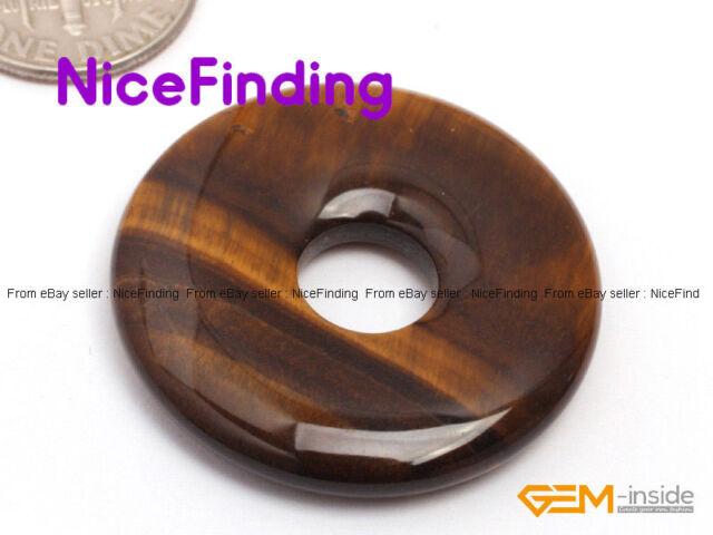 30mm Round Donut Rings Stone Craft Jewelry Making Design Beads Gemstone 1 PCS
