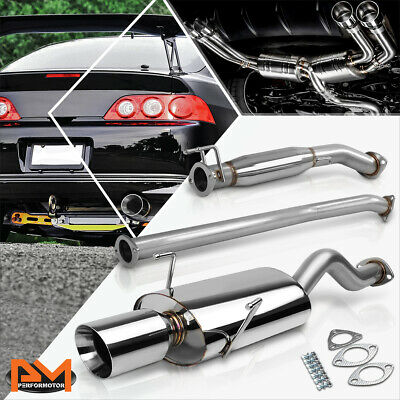 For Acura RSX Type-S Stianless Steel 4 Tip Oval Muffler Catback Exhaust System