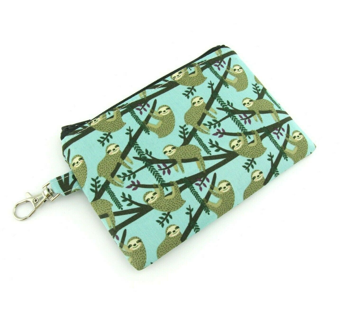 Lazy Sloth Small Keyring Coin Pouch, Boy Girls Kids Purse Wallet, Airpod Holder