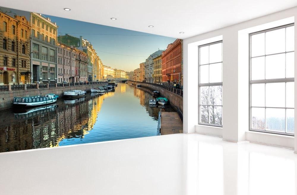 3D Schöne Wasserstadt 72 Tapete Wandgemälde Tapete Tapeten Bild Familie DE | Hochwertige Materialien  | Mode-Muster  | Bequeme Berührung