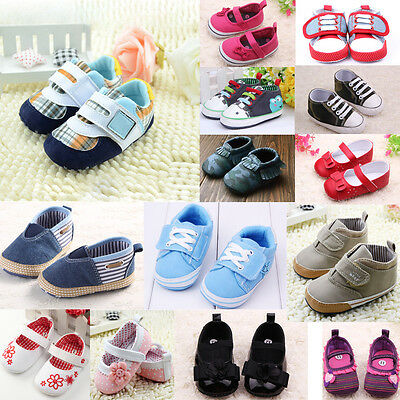 Cute Baby Infant Boys Girl Toodler Soft Sole Shoes Casual Prewalker 0-24Months