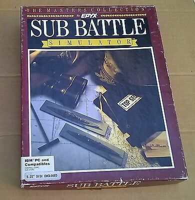 "Sub Battle Simulator by Epyx 5.25"" Disks IBM & Compatibles"