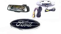 Ford Emblem Backup Camera & 7.3 Rearview Mirror F150, F250, F350, F450, Flex
