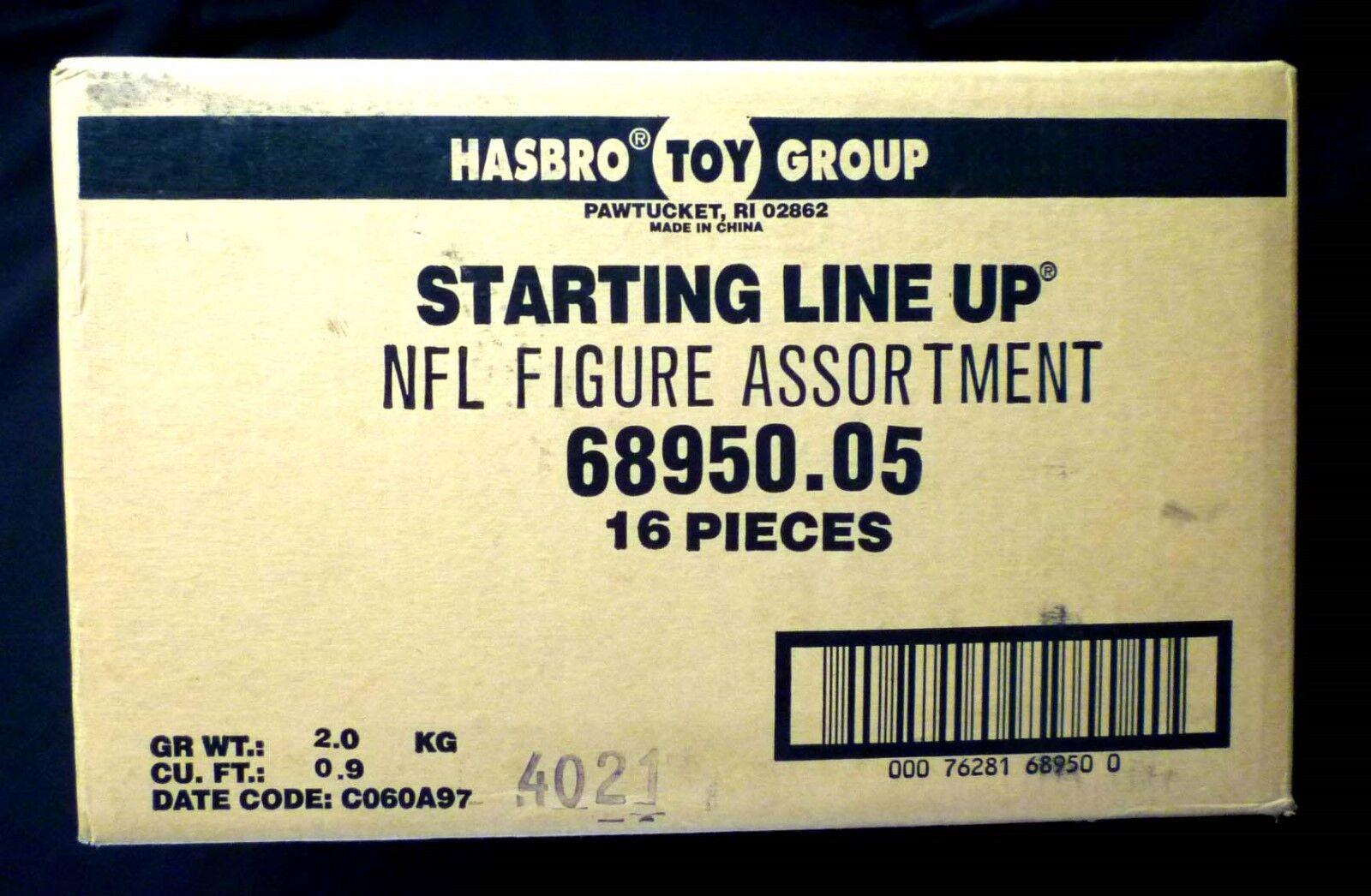 SLU NFL Football 1997 Hasbro Starting Line Up Sealed 16 Figure Case 68950.05