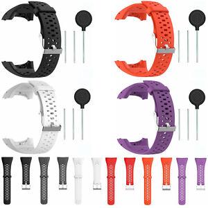 Ersatz-Silikon-Uhrenarmband-Armband-Werkzeuge-fuer-Polar-M400-M430-GPS-Watch