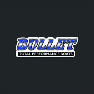 Bullet Boats Blue Fade Carpet Graphic Decal Sticker For Fishing - Bullet bass boat decalsbass boat decals ebay