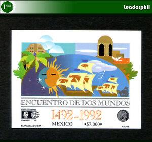 Le-Mexique-Columbus-Mi-Bl-38-neuf-sans-charniere