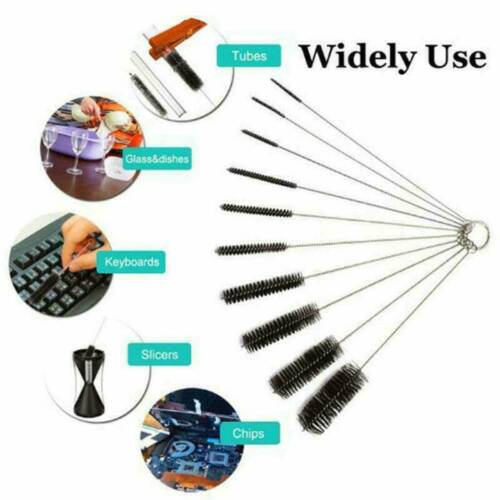 10PCS Bottle Brush Straw Cleaner Glass Tube Pipe Cleaning Long Handle Tool Set ~