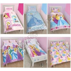 Disney-Princess-Sets-Housse-de-couette-LITERIE-Simple-double-amp-tailles-Junior